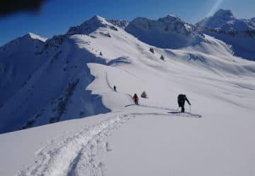 Patrice over sneeuwschoenwandelreis Kleinwalsertal 2018